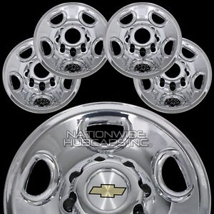 4 New Silverado Suburban 16 8 Lug Chrome Wheel Skins Hub Caps Rim Center Covers
