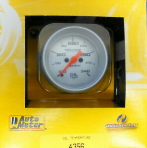 Auto Meter 4356 Ultra Lite Pro Comp Electric Oil Temperature Gauge 100 340 F