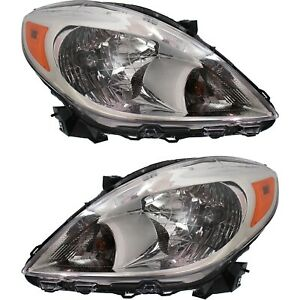 Headlight Set For 2012 2013 2014 Nissan Versa Left And Right With Bulb 2pc