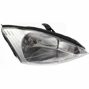 Halogen Headlight For 2000 2002 Ford Focus Right W Bulb