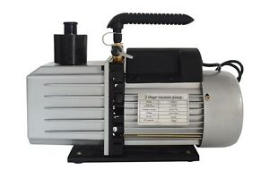 2 stage High Performance Rotary Vane Deep 7 Cfm Vacuum Pump 110v