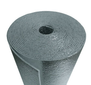 6 X 125 Reflective Foam Core Insulation Hvac Faucet Pipe Air Duct Wrap Roll 1 4