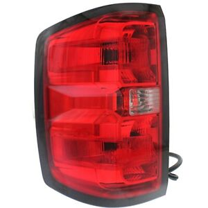 Halogen Tail Light For 2014 2015 Chevy Silverado 1500 Left Clear Red W Bulbs