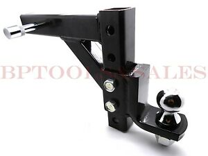 10 Adjustable Trailer Drop Ball Mount Hitch Tow Lock Heavy Duty Trailer Kit