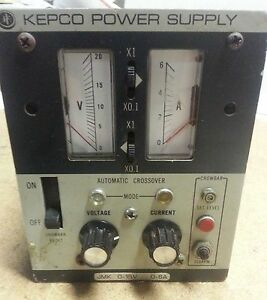 Kepco Jmk 15 6 Analog Dc Power Supply 0 15v 0 6a 115 230v Adjustable Regulated