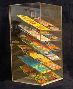Acrylic Countertop Display Case 8x7x22 Tall Cell Phones Blister Paks E cigs