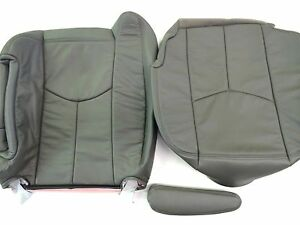 03 06tahoe silverado suburbn Leather Complete Driver Seat Cover Pewtr gray 922