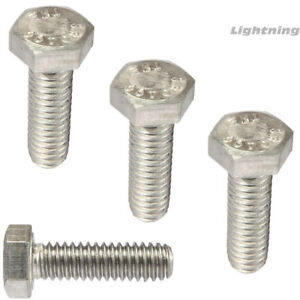 1 4 20 Hex Head Cap Screws Tap Bolts 304 Stainless Steel Fully Threaded Qty 25