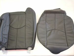 03 06tahoe silverado suburban Leather Driver Backrest bottom Pewter gray 922