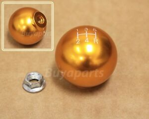 Jdm Gold Aluminum Ball Style 5 Speed Shift Knob For 1990 1993 Acura Integra Da