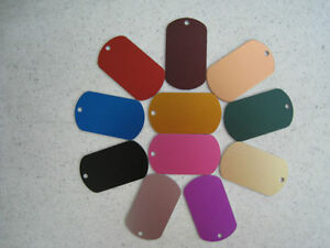 100 Military Dog Tags Anodized Aluminum Laser Wholesale