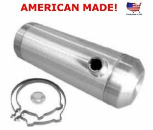 11 Gallon 10x33 End Fill Spun Aluminum Gas Tank 3 8 Npt Offset Outlet Bung