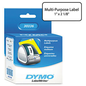 Dymo Costar Printer White Label 1 X 2 12 500 roll Direct Thermal 2 Rolls
