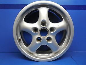 Porsche 993 Oem 17x7 Cup Ii Silver Metallic Alloy Wheel Rim Part 99336212400