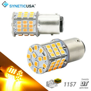 Syneticusa 1157 Led Amber Yellow Turn Signal Parking Drl High Power Light Bulbs