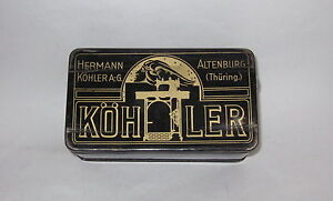 Antique Vintage German Kohler Sewing Machine Tools And Needles In Tin Box
