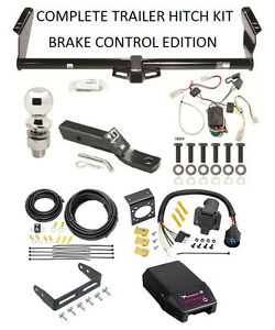 Complete Trailer Hitch Kit For 04 10 Toyota Sienna W Proportional Brake Control