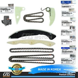 Genuine Full Timing Chain Kit For 10 13 Genesis Coupe Forte 2 0l Oem 24322 25000