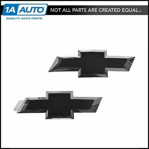 Gm Tailgate Grille Mounted Black Bow Tie Emblem Pair For 14 17 Chevy