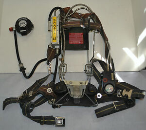 Refurbished Scott Wireframe 4 5 Scba Firefighter Air Pak Pack 1997 Ed With Mask