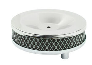 Empi Vw Type 3 Chrome Air Cleaners 5 Round Set Of 2 1 3 4 Tall 9127