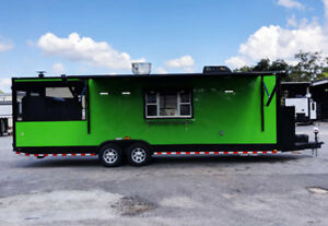 8 5x28 Concession Food Trailer W Sinks Gas And Fire Suppresion
