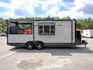 22 Bbq Concession Trailer With Smoker Pit Installed
