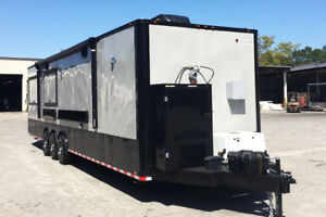 8 5x28 Food Trailer Loaded With Bbq Porch concession Trailers Bbq Trailer