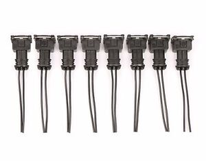 8 Fuel Injector Connector Wiring Plugs Clips Fit Ev1 Obd1 Pigtail Cut