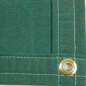 Sigman 8 X 14 Heavy Duty Cotton Canvas Tarp 18 Oz Green Made In Usa New