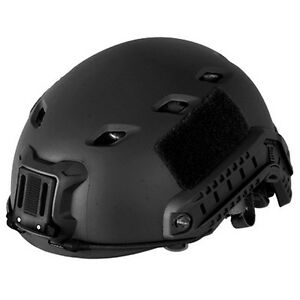 Lancer Tactical CA-334B Airsoft Fast Helmet Vented wRails & NVG Shroud Black