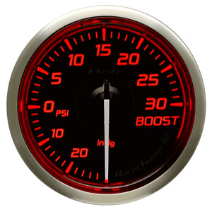 Defi Racer Turbo Boost Gauge 30inhg To 30psi 52mm W Red Led Df06502 New
