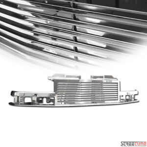 For 98 04 Chevy S10 Blazer Truck Chrome Horizontal Billet Front Grill Grille Abs