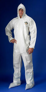 Chemmax 2 Coverall Size 3xl White Hazmat Saranex Suit C44414 xxxl New In Bag