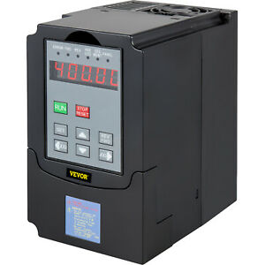 Vevor 220v Cnc Varible Frequency Drive 4kw 5hp Vfd Single Speed Control 3 Phase