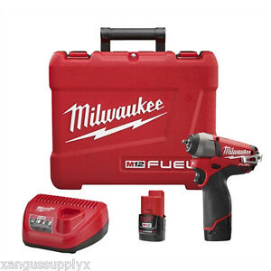 Milwaukee 2452 22 M12 Fuel 1 4 Drive Cordless Impact Wrench With 2 Batteries