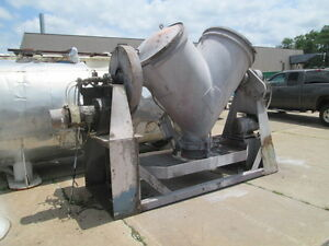 40 Cu Ft Pk Twin Shell Blender Carbon Steel Expoxy Lined With Bar