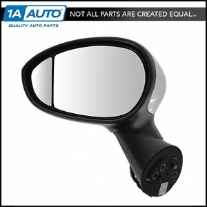 Mirror Power Heated Blind Spot Chrome Cap Lh Left Driver Side For 12 14 Fiat 500