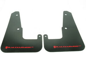 Rally Armor Ur Mud Flaps Black W Red Logo For 2008 2013 Impreza Wrx Sti Wagon