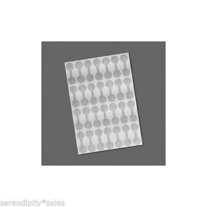 Shark Skin Mylar Price Or Repair Tags 100 Blank Silver 7 16 Ring Size Label