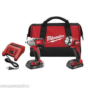 Milwaukee 2693 22 M18 Volt Cordless 3 8 Drive Compact Impact Wrench Combo Kit