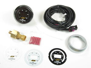 Aem Digital Oil Fuel Pressure Gauge Kit W Led Interface 0 To 100 Psi 30 4401
