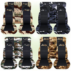 Cc Fit Jeep Wrangler Tj Front Rear Camo Car Seat Covers blk Center W Design