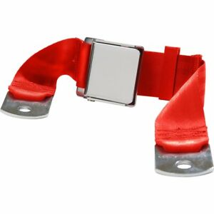 Beams New Seat Belt 2 Point Non Retractable Lap W Lift Latch Flame Red 60in