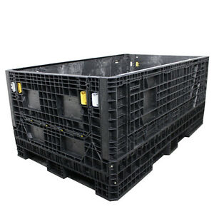Duragreen 78 X 48 X 34 Extended Length Collapsible Bulk Container 2 Doors