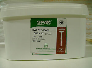 Spax Xwl Log Timber Lag Screws bolts 10 Washer Head 250 Per Bucket