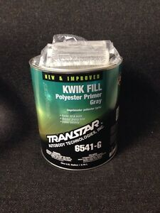 Transtar Kwik Fill Polyester Primer Gray new Improved Tra 6541 g