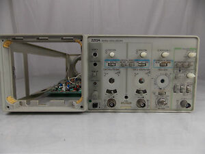 Tektronix 2213a Oscilloscope Front Control Panel Faceplate W Circuit Board