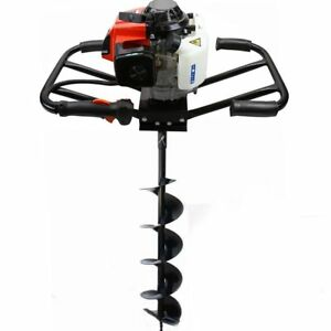Epa 3hp Two 2 Man 63cc Gas Post Earth Planting Hole Auger Digger Machine 6 Bit