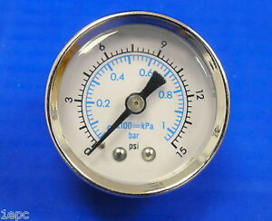 Marshall Gauge 0 15 Psi 1 Bar Kpa Fuel Oil Pressure Dual Scale White 1 5 Dry